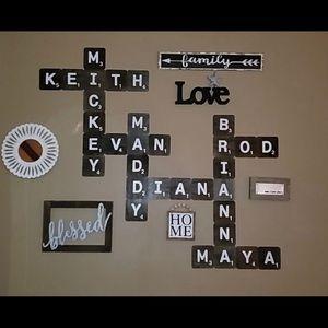 Other - Scrabble wall art